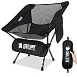 Covacure Folding Camping Chair for Adults/Kids - Lightweight Portable Backpacking Chair with Carry Bag for Camping, Hiking, Outdoor, Beach, Picnic