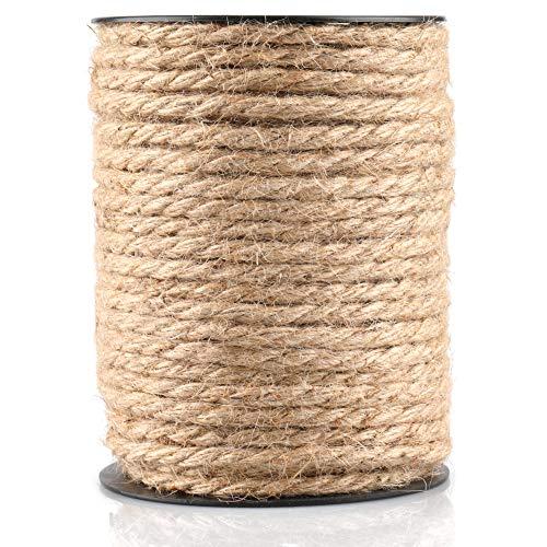 35M Cuerda de Yute Gruesa Cuerda cáñamo 4 mm,Natural Rollo de Cordel...