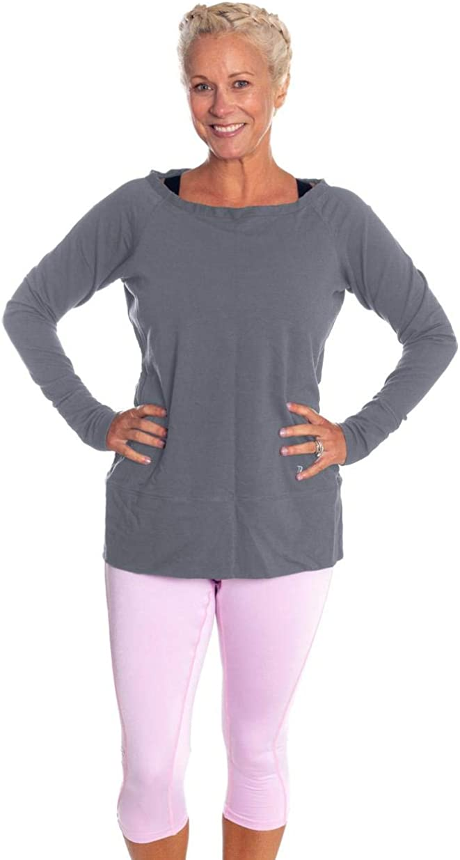 Womens Workout Plus Size Sweatshirt with Thumb Holes - Also in Regular