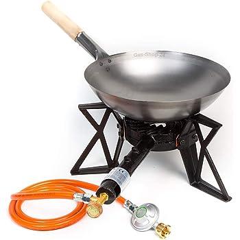 Hockerkocher Gaskocher Kocher Campingkocher Gasschlauch 100 cm Druckregler 4 Fuß
