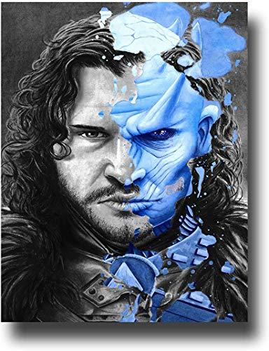Póster de Juego de Tronos de la temporada 8 de Jon Snow Wall Art para sala de estar, decoración del hogar, impresión sobre lienzo de 50,8 x 76,2 cm