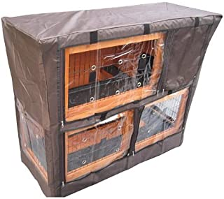 """Bunny Business Hutch Cover for Double Decker Hutch, 48"""" L x 20"""" D x 41"""" H inches"""