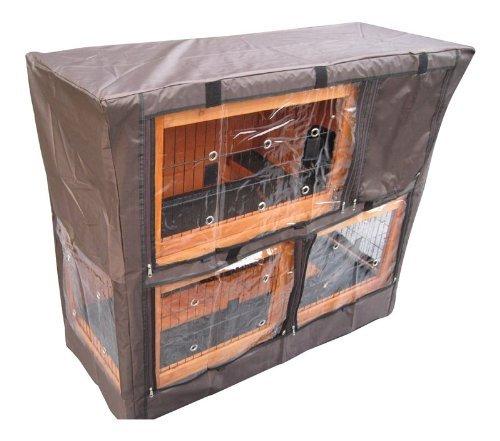 BUNNY BUSINESS Stallabdeckung für Doppeldecker-Stall, 122 x 51 x 104 cm