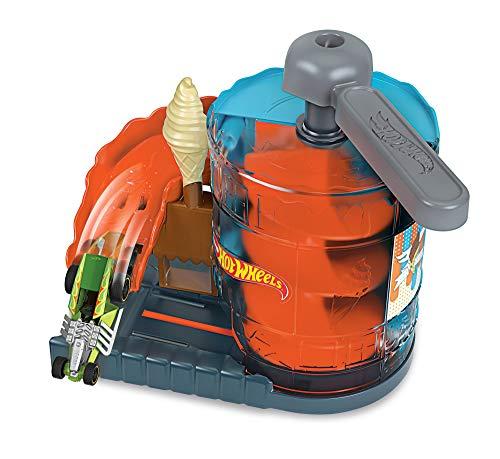 Hot Wheels GJK74 - Hot Wheels City Spielset: Eismaschinen-Rampe, Geschenkidee für stundenlangen Spielspaß, Spielzeug ab 4 Jahren
