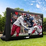 VIVOHOME 16ft Indoor and Outdoor Inflatable Blow up Mega Movie Projector Screen with Carry...