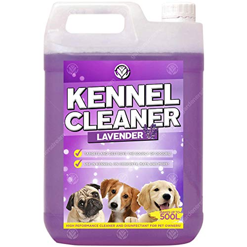 GardenersDream Kennel Cleaner 1 x 5L - Professional Safe Dog Cat Pet Odour Remover and Disinfectant 5 Litre Fragrance Fresh Concentrate 2 in 1 Simply Mix and Spray Solution (Bubblegum)