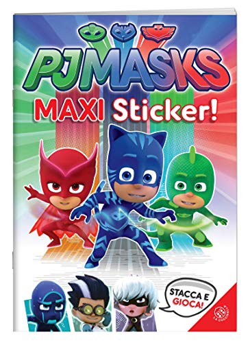 Superpigiamini. Maxi sticker. Pj Masks. Con adesivi. Ediz. a colori