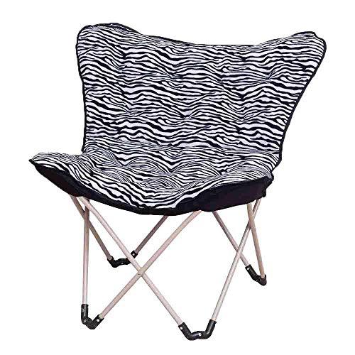 BJYG Sonnenliege Klappstuhl Balkon klappbar Haus Sofa Pigro Stuhl Schmetterling Sonnenstuhl Radar Stuhl Stuhl Dekoration Zuhause (Farbe: Zebra Color) Zebra Color