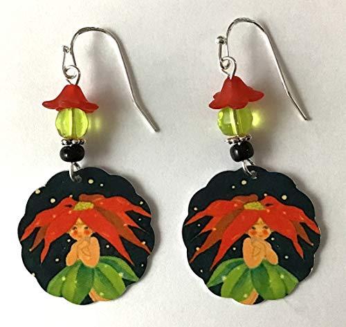 Aqua Blue and Green Dangle /& Drop Pierced Earrings Abstract Lamp Work Glass Earrings Vintage Earrings Fun Colors and Designs