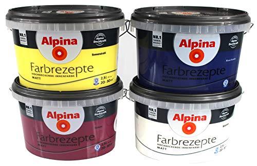 Alpina Farben Farbrezepte Innenfarbe Wandfarbe Farbton Edles Mauve 2,5 Liter