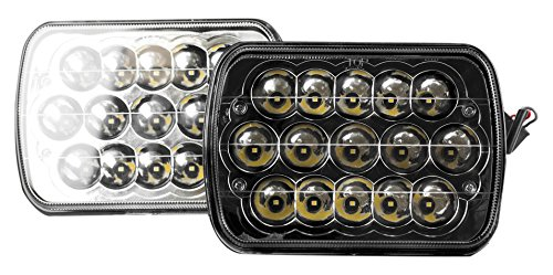 headlight conversions AVEC 156005 Luxx Series Clear/Black Sealed Beam LED Headlight Conversion Light (7 by 6-Inches)