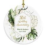 Anniversary Christmas Ornament 50th Anniversary Ornament 50th anniversary gift Gift Box Included