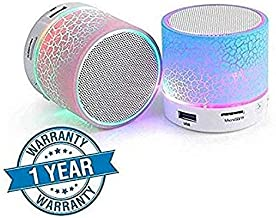 Ionix Wireless LED Bluetooth Speakers Wireless, Portable Bluetooth Speakers Wireless, Handsfree with Calling Functions for All Smartphones (Mulicolor) (S10 Mini Speaker)