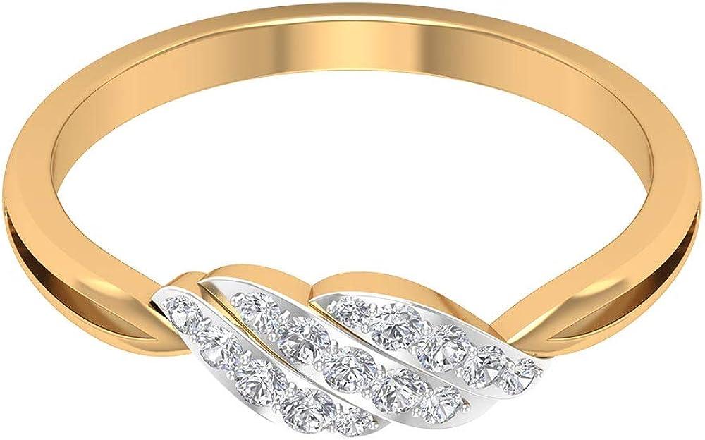 Simple Moissanite Ring Overseas parallel import regular item excellence Split Solid Gold Shank Engagement