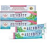 Auromere Ayurvedic Herbal Toothpaste, Cardamom Fennel, Foam Free - Vegan, Natural, Non GMO, SLS Free, Fluoride Free, Gluten Free, with Neem & Peelu (4.16 oz), 2 Pack