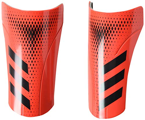 adidas Adult Predator 20 Club Shin Guards, Black/Active Red, Large Adidas Red Shin Guard