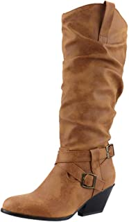 JOJONUNU Women Vintage Knee High Boots