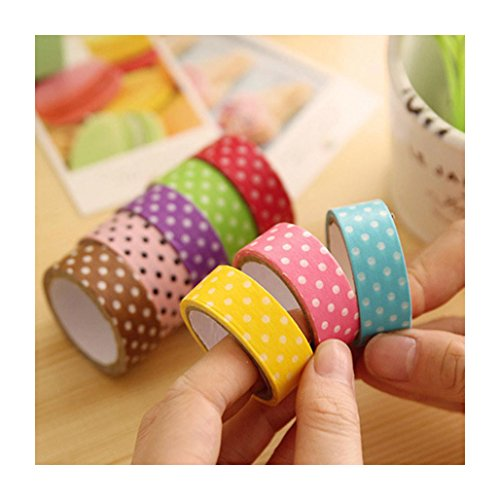 Sannysis 8Pcs fai da te Cute Cartoon punteggia Sticker Paper per Scrapbooking Decoration