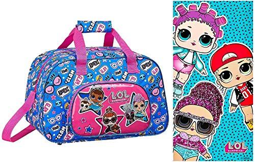 LOL Surprise - Sporttasche und Badetuch, pink/blau, L.O.L.