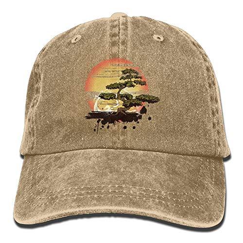 leyhjai Bonsai Tree Karate Dojo Denim Hat Adjustable Women