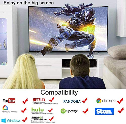 HDMI Streaming Stick Display,1080PHDMI Dongle Streaming,Wireless HDMI ,HDMI TV Adapter,Empfänger Streaming-Geräte Für TV Android / IOS / Windows / OS Laptop, Tablet, PC zu TV
