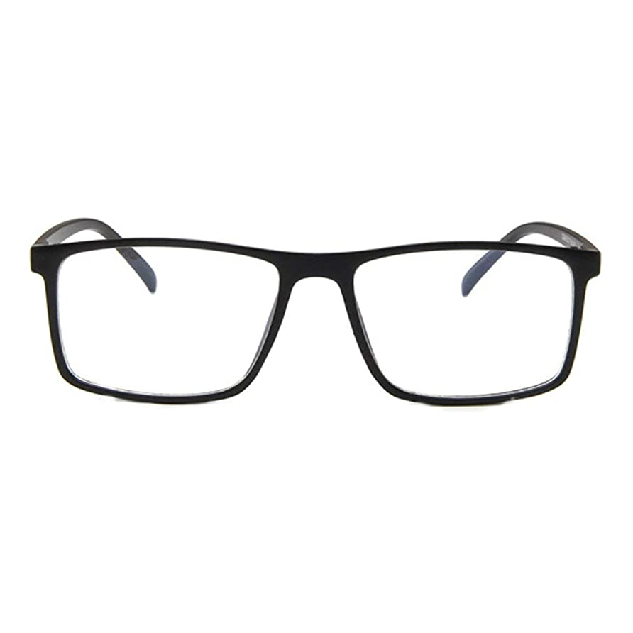 トンヒロイックお互いレトロフラットメガネファッション人格眼鏡フレーム近視眼鏡韓国ファッション学生眼鏡フレーム-マットブラック