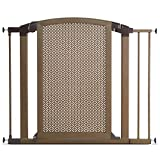 Munchkin Decorative Metal Pressure Mount Baby Gate for Stairs, Hallways and Doors, MKSA0658-011, Bronze
