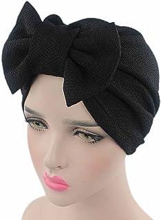 YOKINO ヘアドライハット 癌化学療法 帽子 ビーニー スカーフ ターバン ヘッド ラップ キャップ 防風 ヘッドラップキャップ (ブラック)
