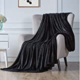 """Walensee Fleece Blanket Plush Throw Fuzzy Lightweight (Queen Size 90""""x90"""" Black) Super Soft Microfiber Flannel Blankets for Couch, Bed, Sofa Ultra Luxurious Warm and Cozy for All Seasons"""