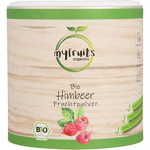 myfruits® Bio Himbeerpulver - ohne Zusätze, zu 100% aus Himbeeren, gefriergetrocknet, Fruchtpulver für Smoothie, Shakes & Joghurt (200g)