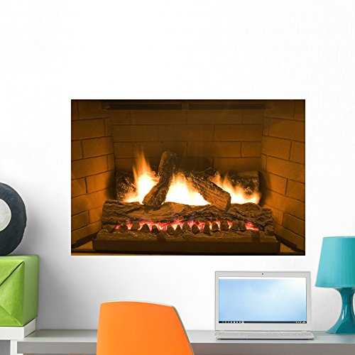 Warmth Fireplace Wall Mural Wallmonkeys Peel and Stick Graphic (24 in W x 16 in H) WM149470
