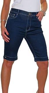 ICE Pantaloncini di Jeans Elasticizzati con Dettagli in Strass 42-56