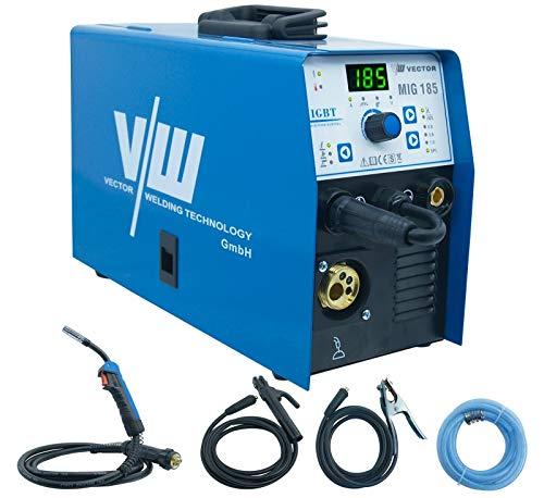 VECTOR Saldatrice MIG 185 Amp 230V Gas e Gasless MIG/Stick/TIG Saldatrice MIG Inverter Saldatrice a Filo Continuo Attrezzatura per Saldatura Professionale