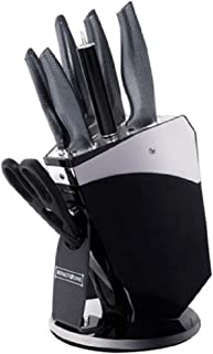 Royalty Line Home Master All-In-One Premium Knife Block Set with Mirror Acrylic Knife Stand