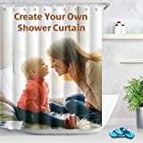 Cortina de ducha personalizada, añade tu propia foto o diseño, cortina personalizada de fondo de imagen personalizada (80 x 72 pulgadas)