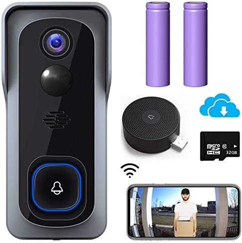 2020 Upgraded WiFi Video Doorbell Camera Morecam Wireless Camera Doorbell with Chime 1080P HD product image