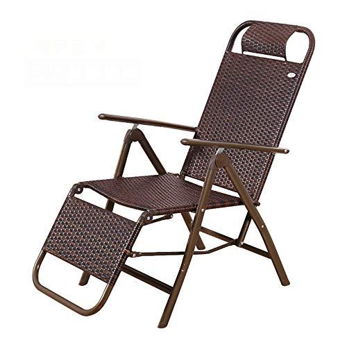ZDZY Lounge Chair Recliners Gartenstuhl, Rattan Recliner Klappstuhl Strandstuhl Sommer Lounge Chair, Home Office Nap (3 Stile) Stuhl (Farbe: C)