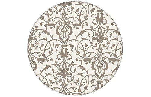 Grijs, discreet weelderig behang met klassiek damastpatroon aangepast aan Little Greene muurkleuren - vliesbehang ornamenten verschillende maten - exclusieve wanddecoratie - GMM design behang - wandbehang - wand decoratie (baanbreedte: 46,5 cm) klassiek 1/2 WAND | Rolle 1,5m grijs