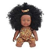 12 Pouces Bébé Reborn Poupées Afro-américaine Réalistes Poupée Pour Enfants Jouets Pour Enfants Poupée, Jouet De Simulation,Simulation De Poupées Noires D'enfants, Matériau En Silicone Souple
