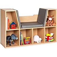 Best Choice Kids' 6-Cubby Bookcase w/ Cushioned Reading Nook