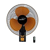 V-Guard Esfera RW 16 Remote Wall Fan; Speed: 1350 RPM, Sweep: 400mm and Power Consumption: 55W (Orange, Black)