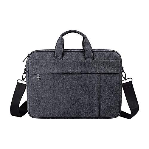 BSDK Laptop-Umhängetasche kompatibel 13,3-15,6-Zoll-Notebook-Computer, ultraportable schützende Polyester-Tragetasche Aktentasche Sleeve Case Cover,Schwarz,13.3inch