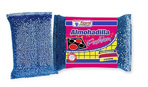 Mundo Floral. Estropajo Almohadilla Delicado no Raya. Especial para cocinas y vitrocerámicas. Caja 32 uds