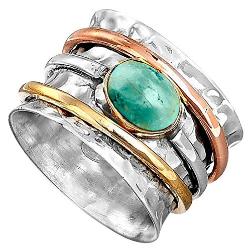 Turquoise Knuckle Stacking Rings for Women Engagement Rings Creative Openning Personalized Ring Women's Accessories Weedding Rings Valentine's Day Present(E,Multicolor)