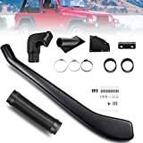 Anbull Snorkel Kit Compatible with 92-06 Jeep Wrangler TJ 4.0L L6 Black Ram Head Intake Kit