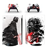 PS5 Skin for Console and Controllers Vinyl Sticker Same Decal Quality for Cars, Star Wars, Vader,, Durable, Scratch Resistant, Bubble-free, Compatible with PlayStation 5 Disk Edition