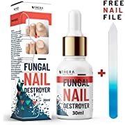 Premium Fungal Nail Destroyer, Suitable for Finger and Toe Nail   Contains Argan Oil and Tea Tree Oil   30ml   Free Nail File and Nail Brush.