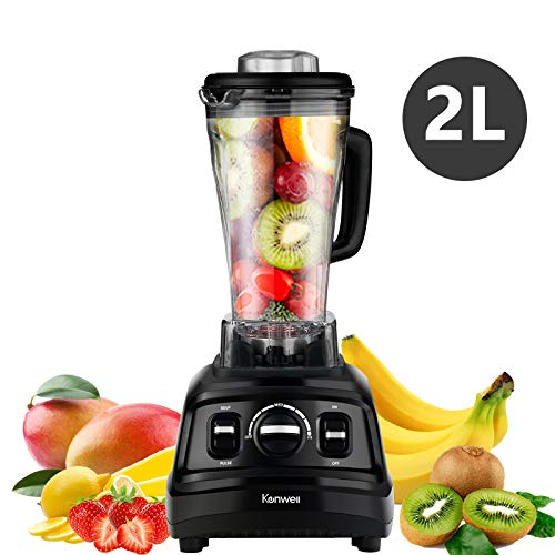 KENWELL Blender High Speed Stander Blender/Mixer System for Shakes and Smoothies with 1500-watt Base and 26-Ounce Cup, Ice and Frozen Fruit, Black.