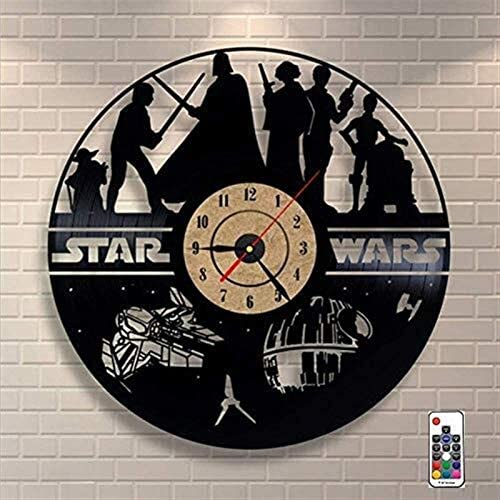 Wall Clock Vinyl Record Wall Clocks 7 Color Changing Design Wall Decor Valentines Best Gift product image