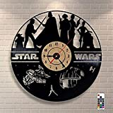 Wall Clock, Vinyl Record Wall Clocks 7 Color Changing Design Wall Decor Valentines Best Gift with Remote for Men